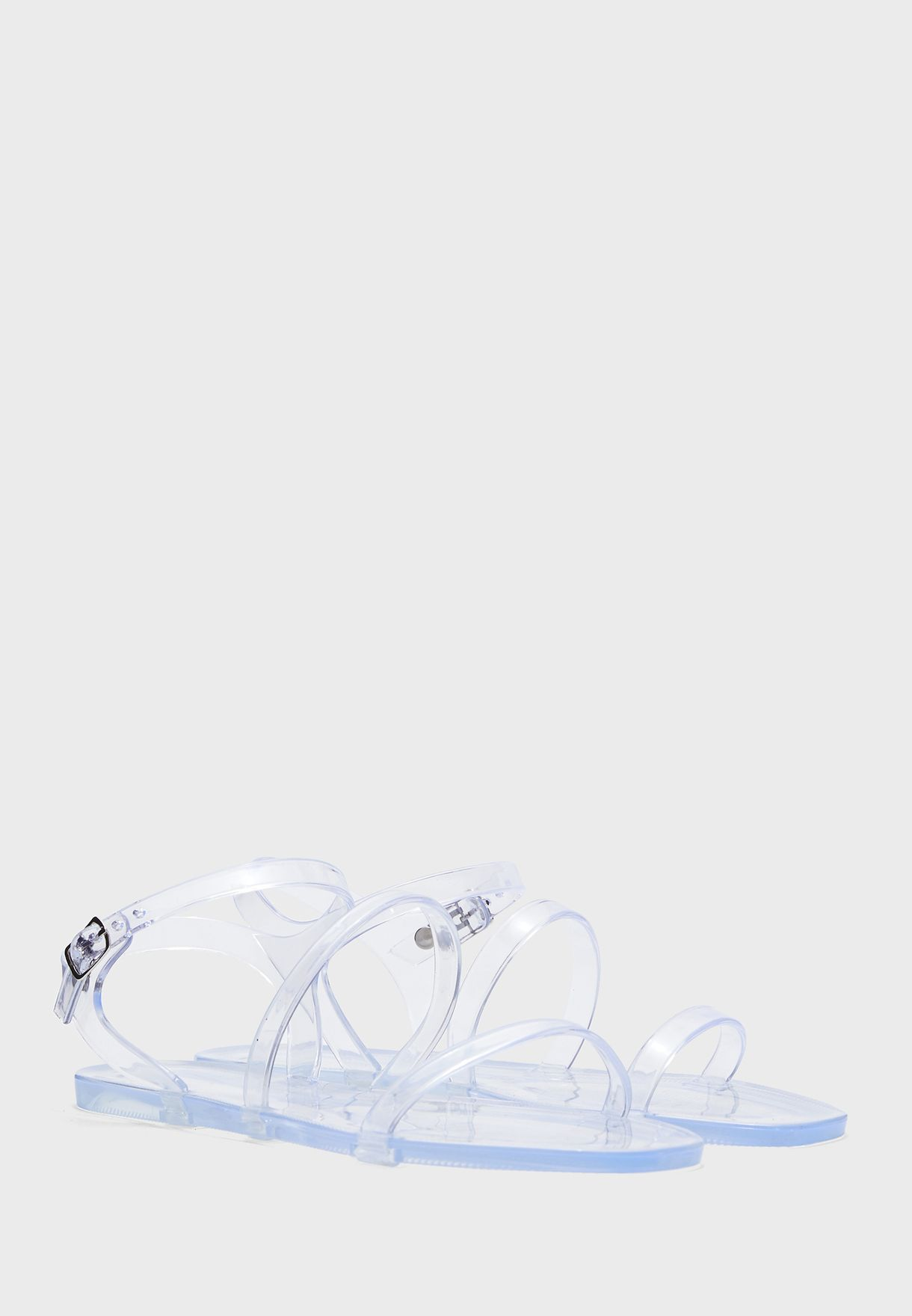 Jelly Clear Strap Sandals