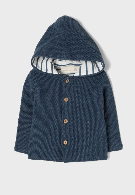 Infant Hooded Knitted Cardigan
