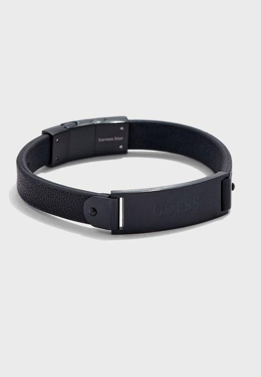 Leath Plate Bracelet