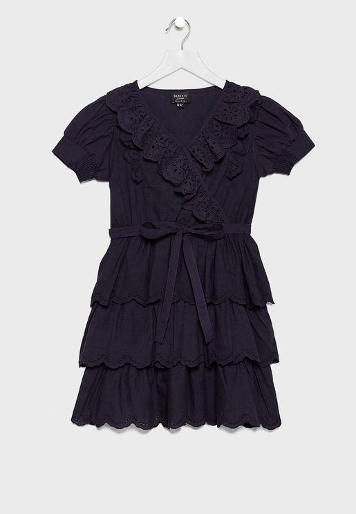 فستان لف مكشكش