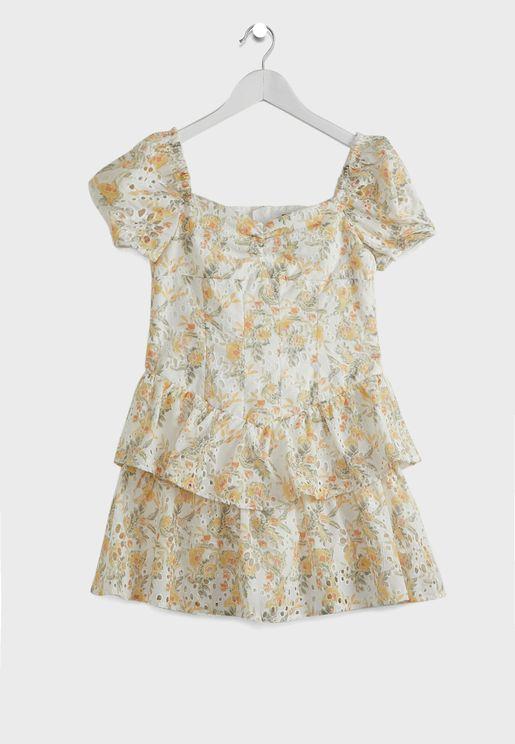 فستان طبقات مطبع