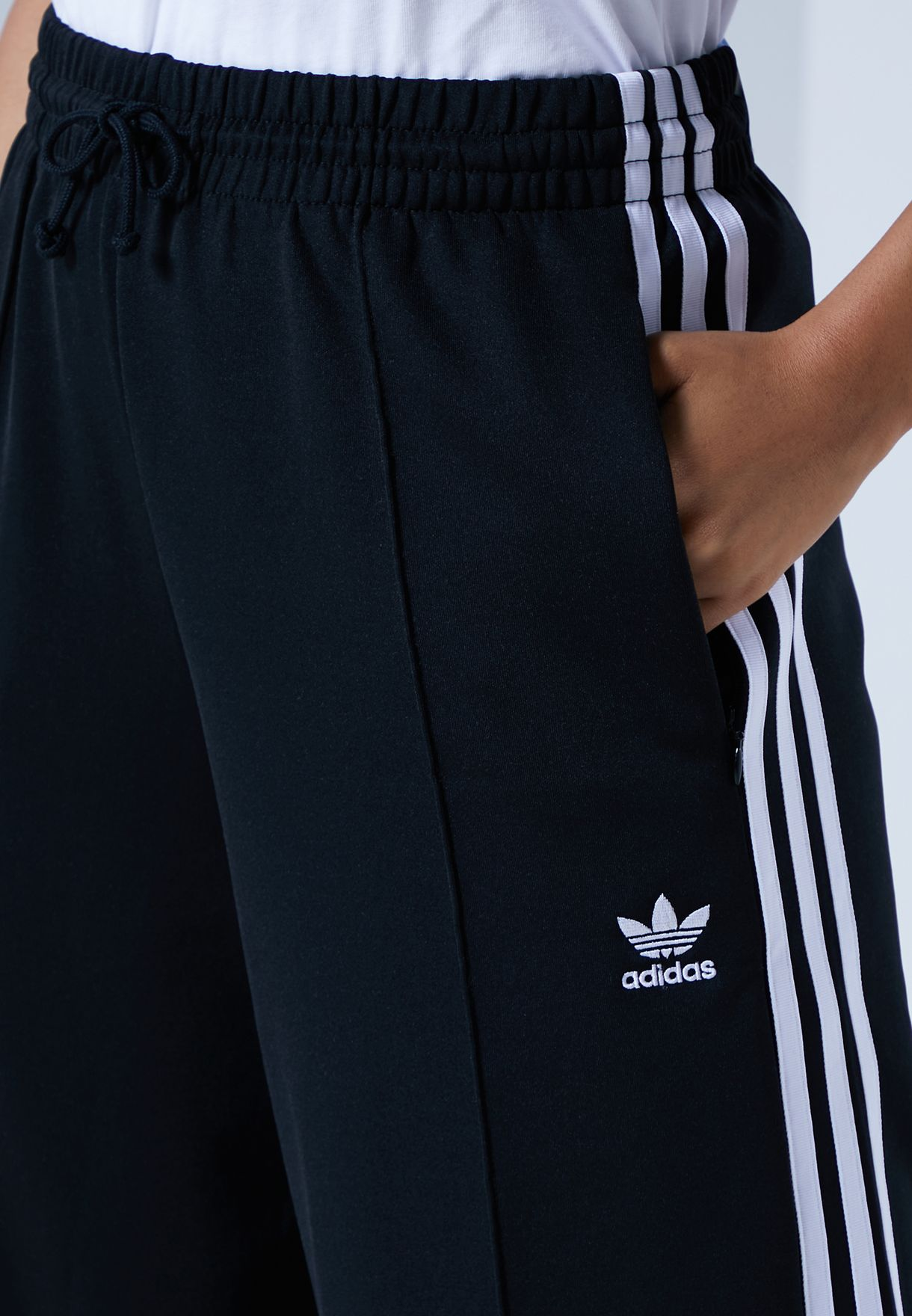 3 Stripe Wide Leg Sweatpants