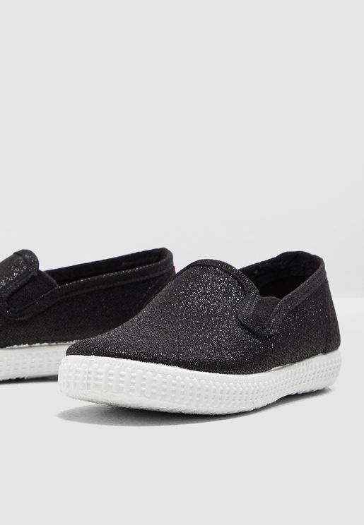 Kids Shimmer Detail Slip On