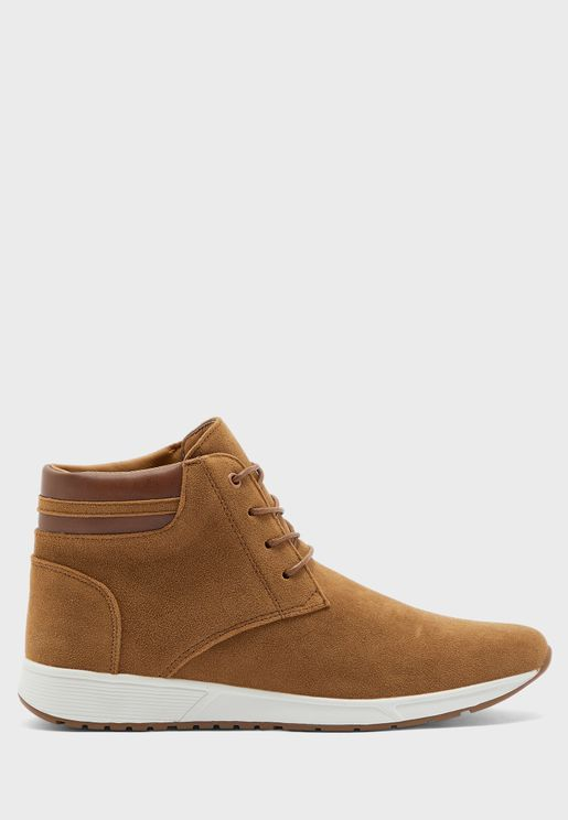 Casual High Top Boot with Padded Collar