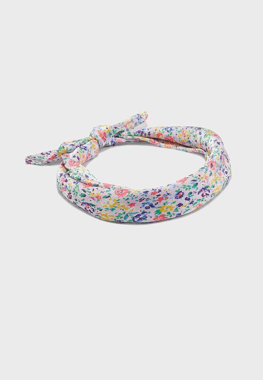 ربطة رأس بطبعات ازهار