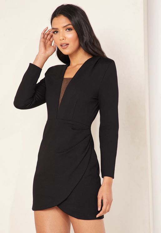 Prosper V-Neck Blazer Dress