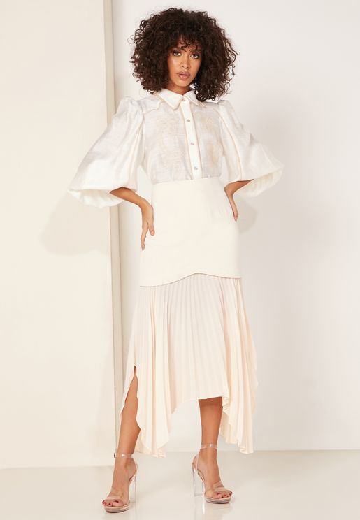 Take Seriously Pleated Midi Skirt