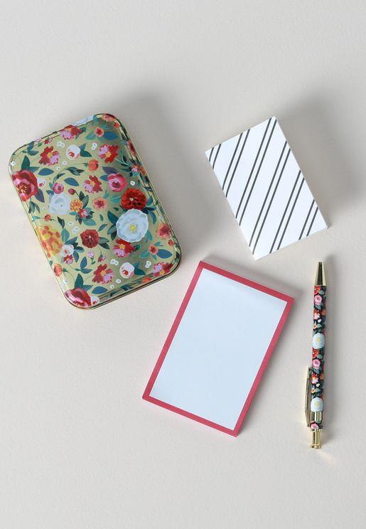 طقم صندوق ودفتر ملاحظات وقلم