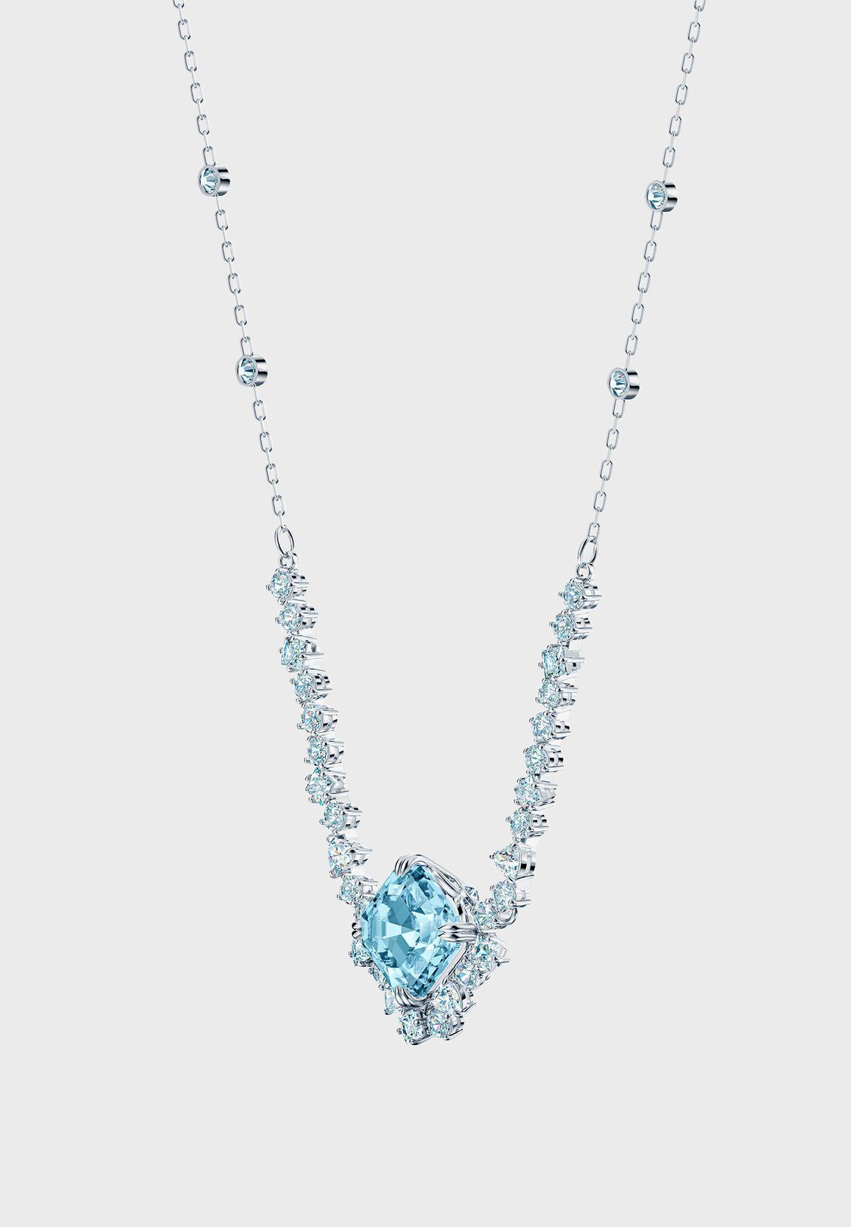 Sparkling Aqua Pendant Necklace