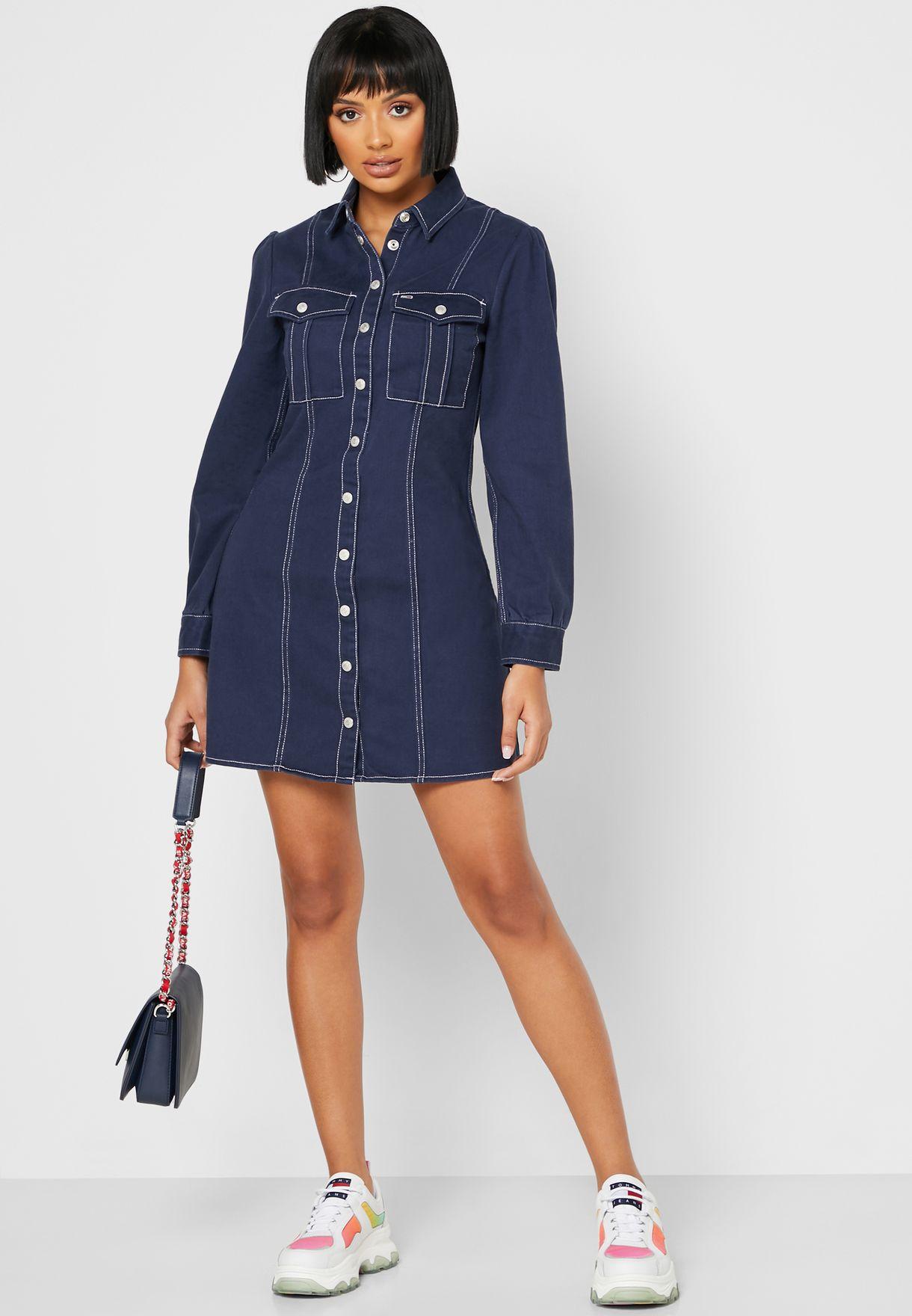 فستان جينز انيق