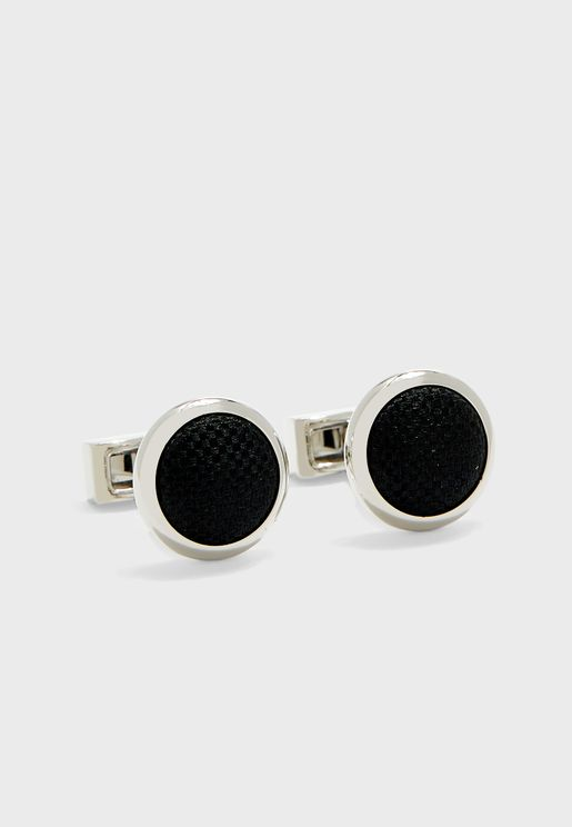 Woven Plain Panama Cuff Links