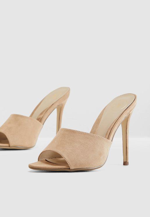 Peep Toe Mule Sandal