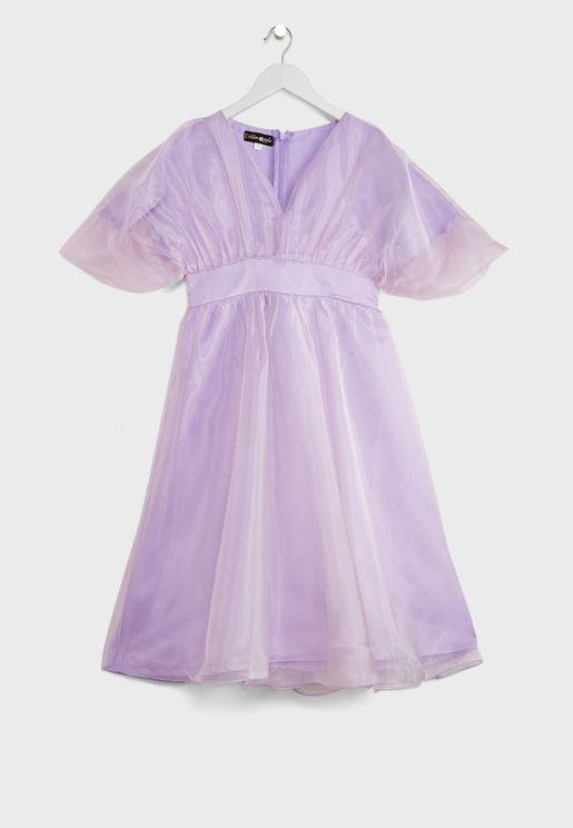 فستان باربطة للاطفال