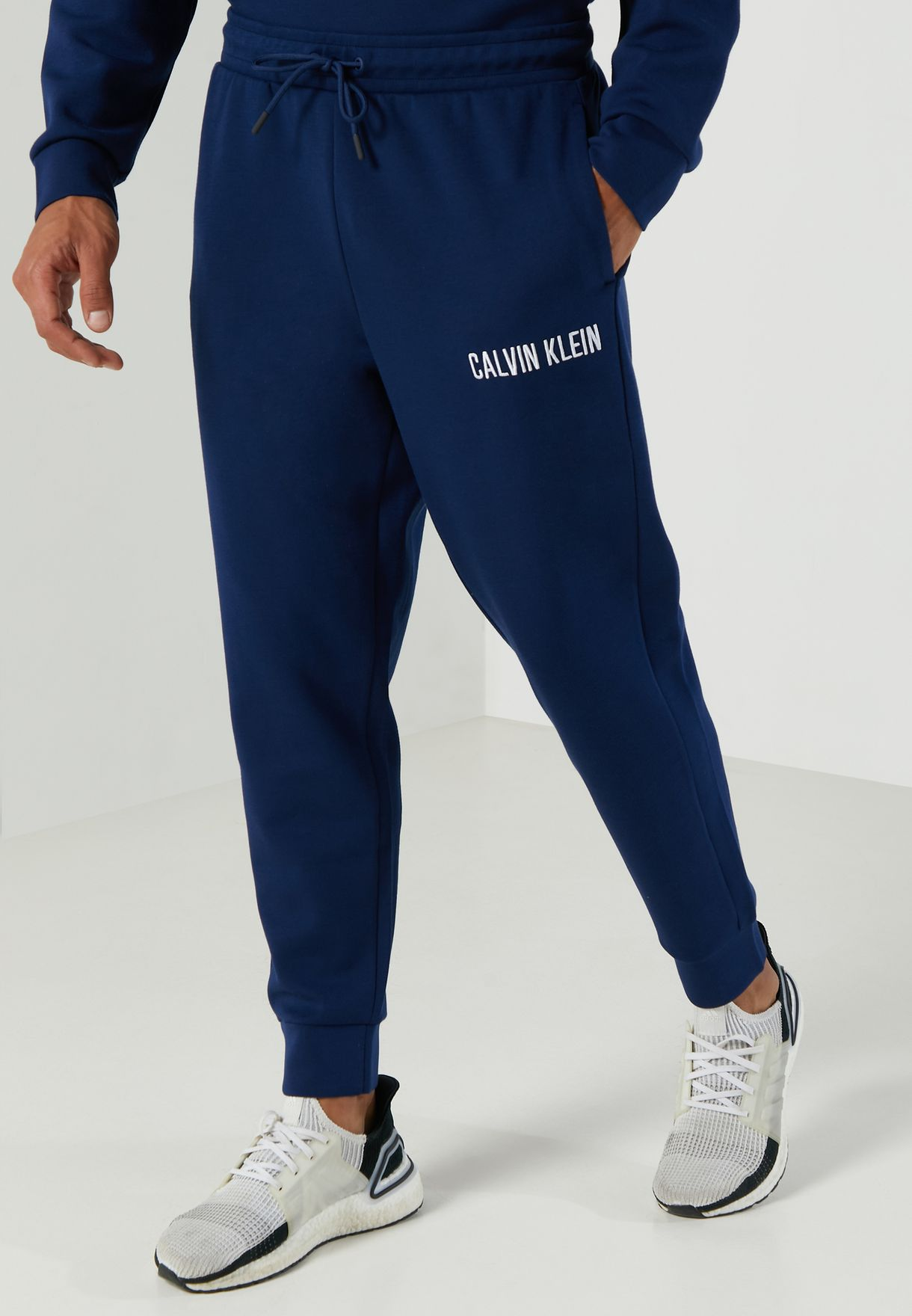 Logo Knit Cuffed Sweatpants