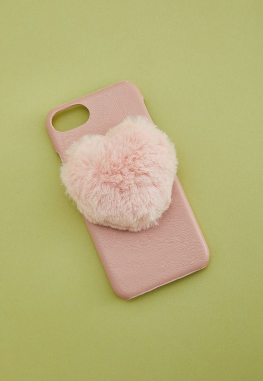 Heart Pom Phone Case