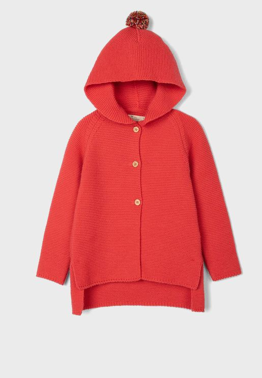 Kids Hooded Cardigan