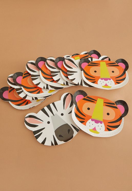 Animal Party Plates 12 Pack