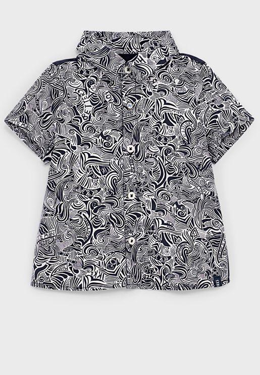 Kids Maori Print Shirt