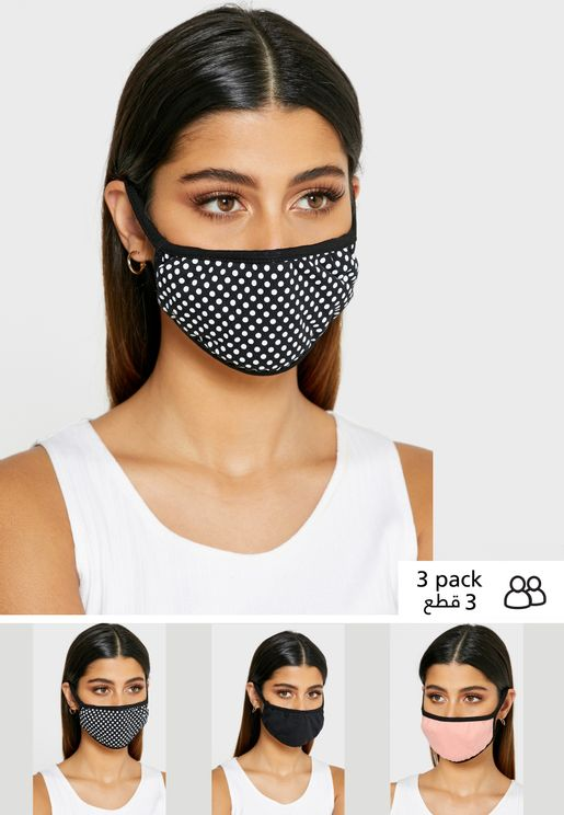 3 Pack Cotton Face Mask