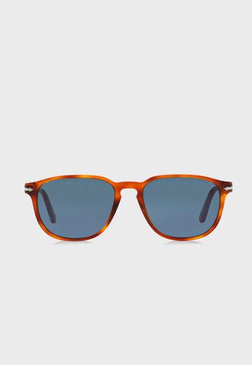 0PO3019S Square Sunglasses