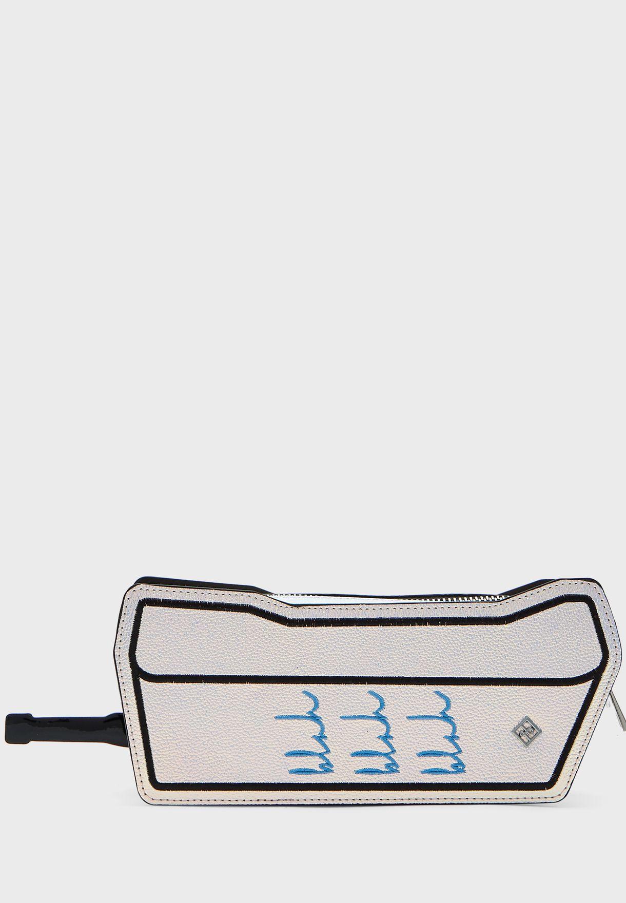 شنطة ميتاليك شكل هاتف محمول