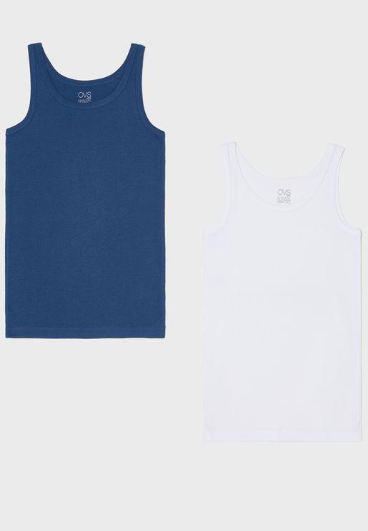 Kids 2 Pack Assorted Vest