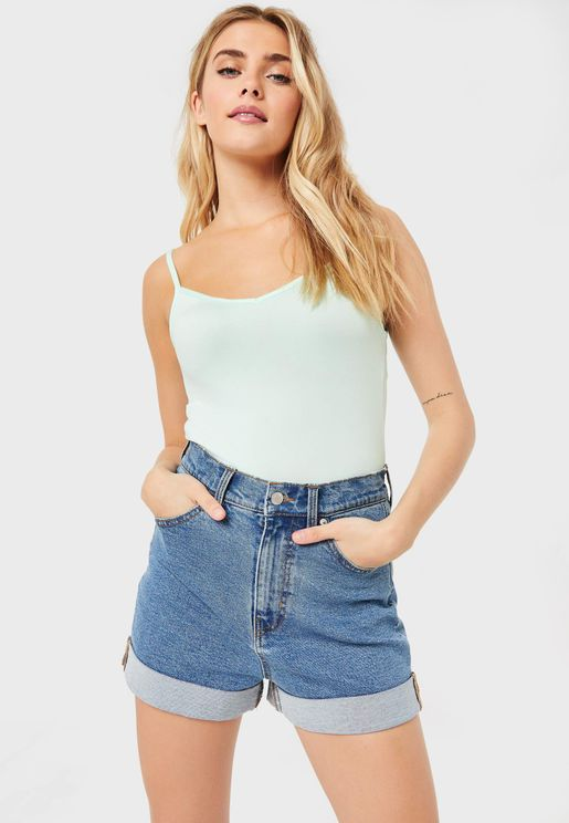 Cowl Neck Knitted Tank Top