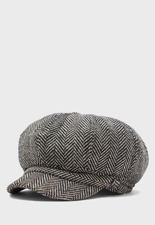 Tweed Herringbone Cabby Hat