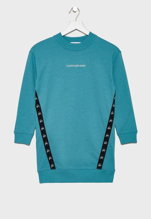 Kids Monogram Sweatshirt Dress