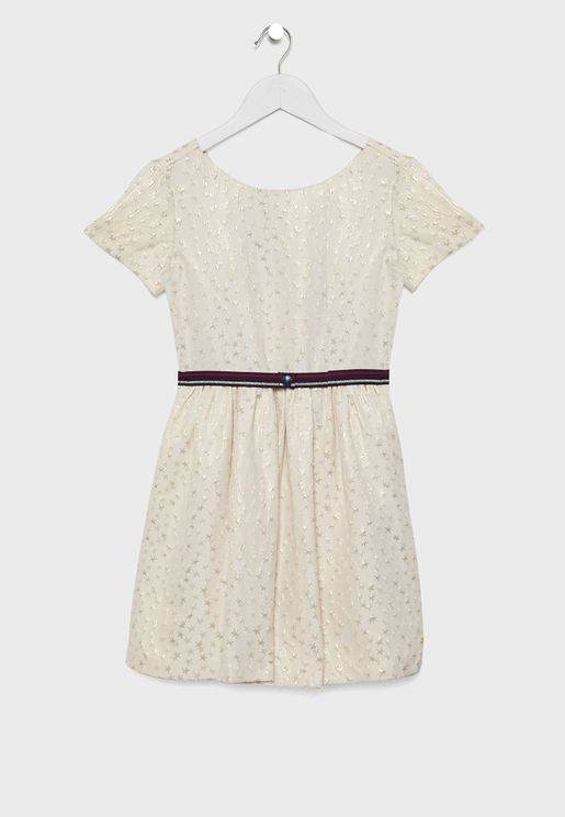 Teen Star Jacquard Dress