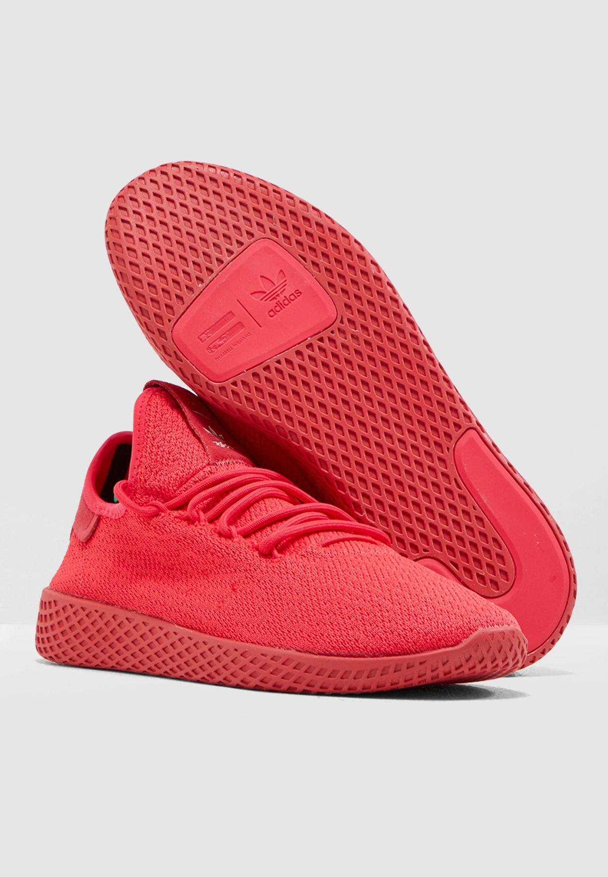 f7aac84329bae Shop adidas Originals pink Pharrell Williams Tennis HU D96553 for ...