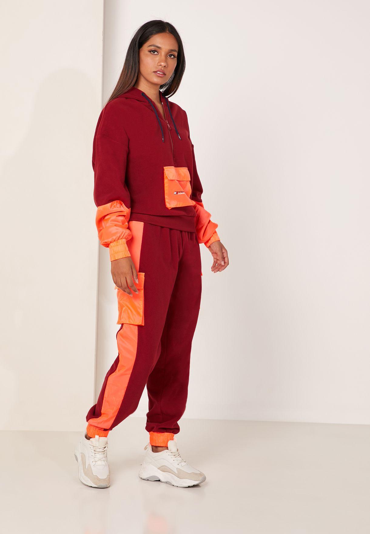 Colour Block Polar Sweatpants