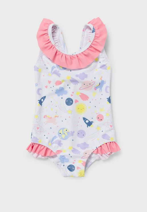 Infant Printed Ruffle Swimsuit