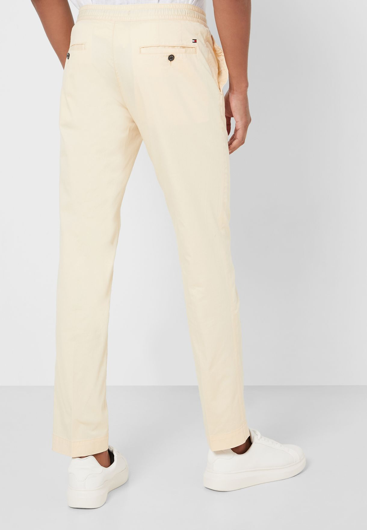 Straight Drawstring Trousers