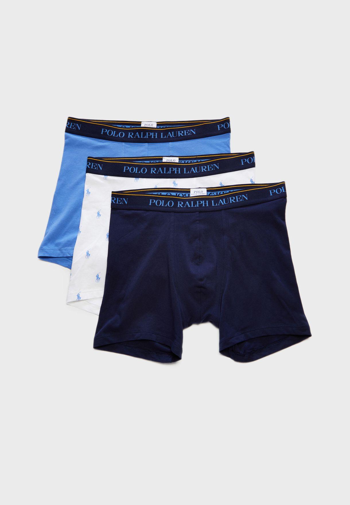 38246e9c7377ac Shop Polo Ralph Lauren multicolor 3 Pack Low Rise Briefs 7.1473E+11 ...