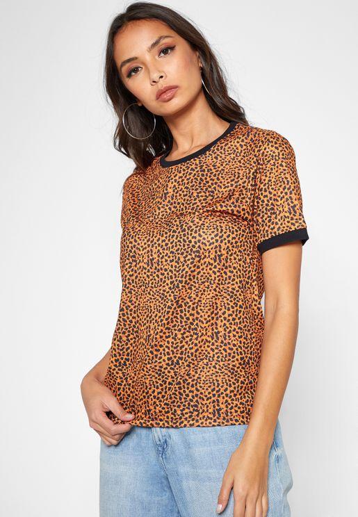 Leopard Print Short Sleeve T-Shirt