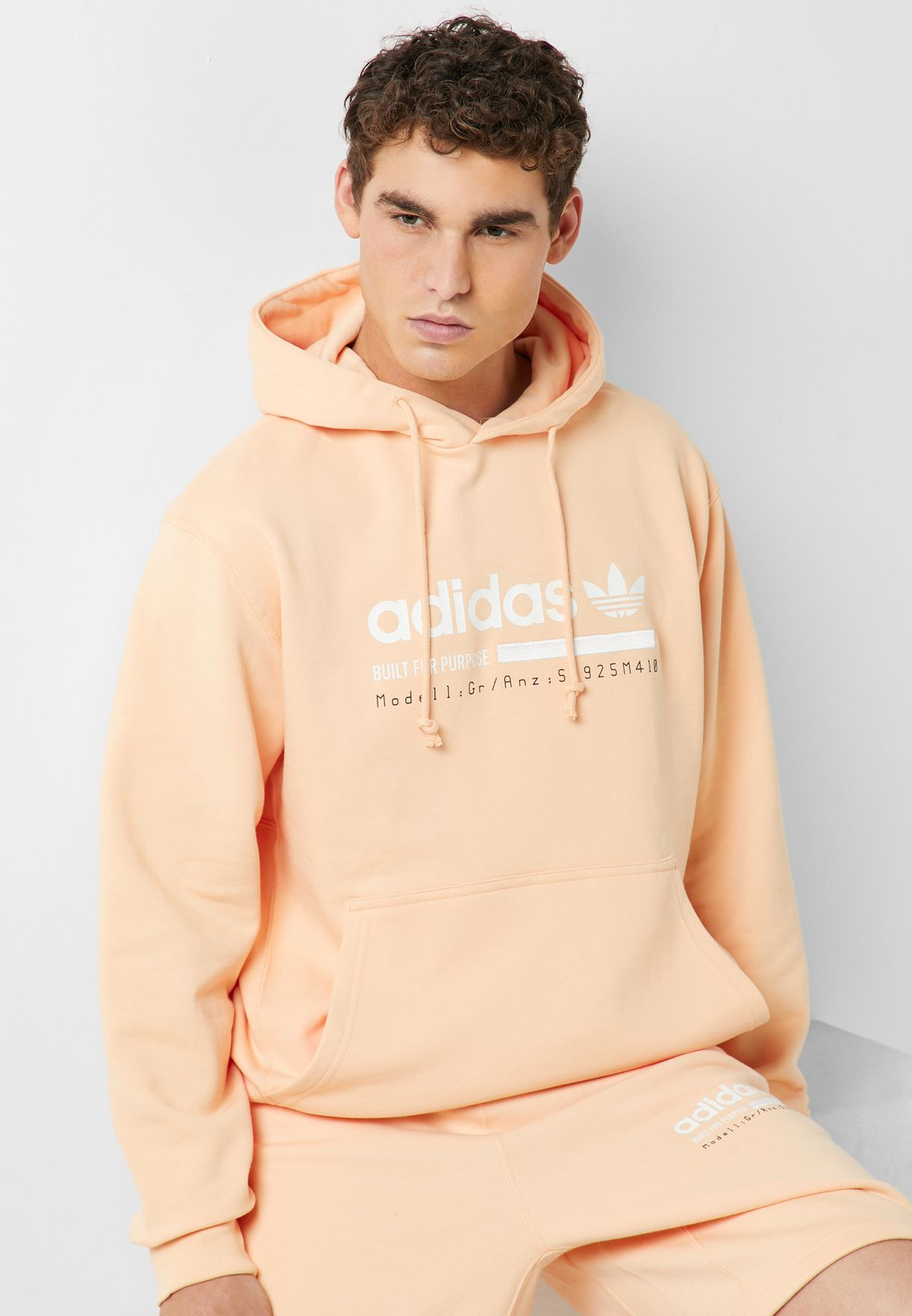 ab042e5dd Shop adidas Originals orange Kaval Graphic Hoodie DV1957 for Men in ...