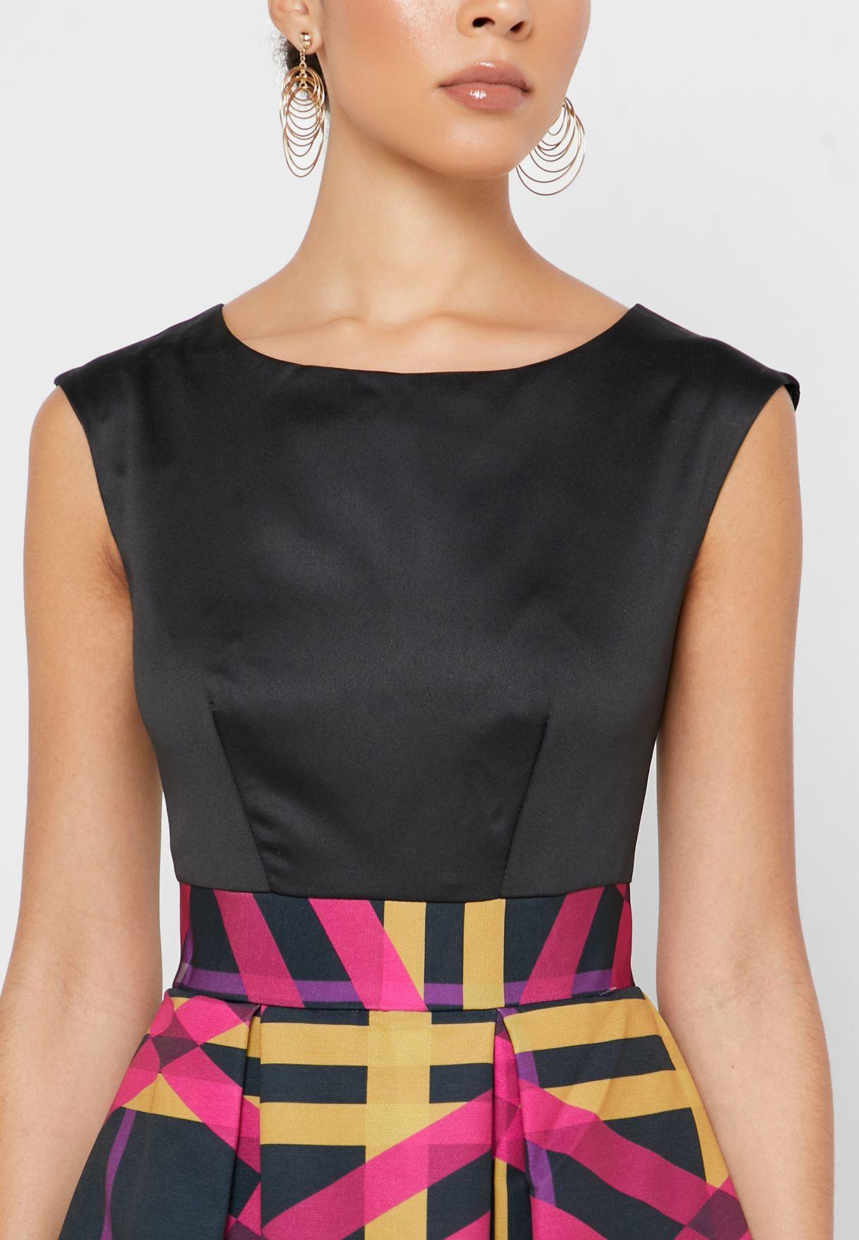 فستان سكاتر مطبع