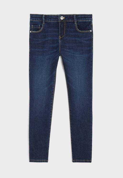 جينز سليم فت داكن