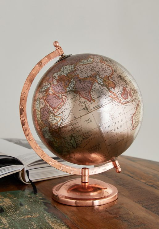 Rose Gold Desk Globe