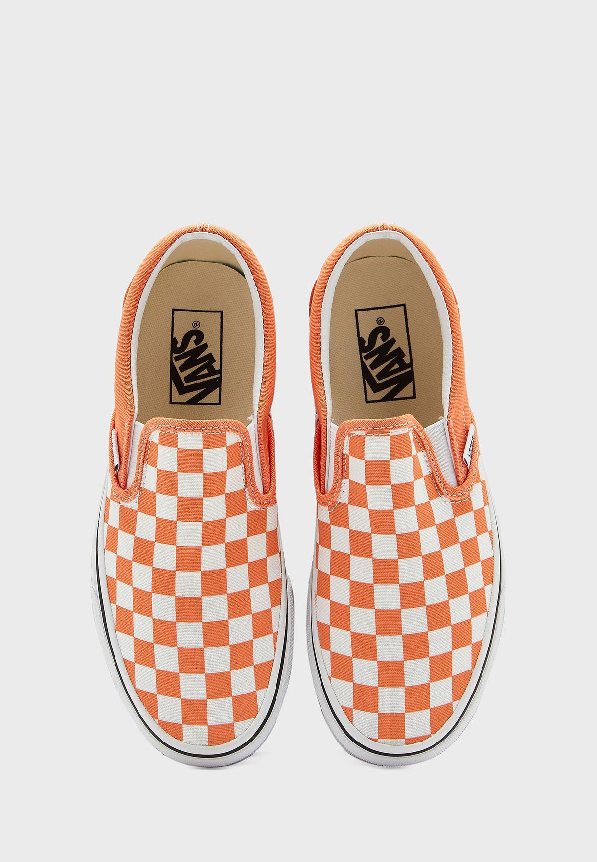 Checkerboard Classic Slip Ons