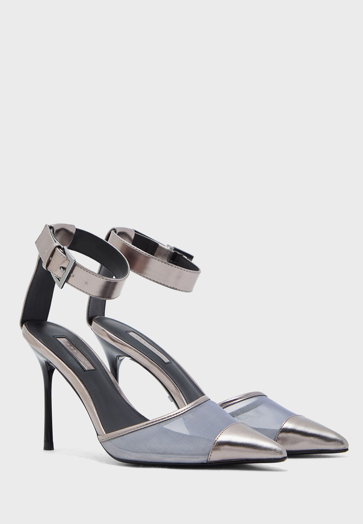 Topshop Ankle Strap High Heel Pump - Brand Shoes