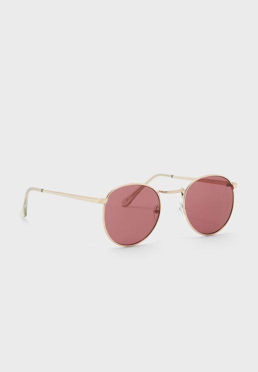 Berry Lens Round Sunglasses