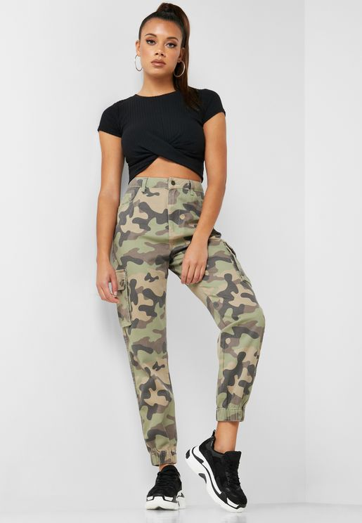 d92dff5a7 Camo Print Cargo Pants. New Look
