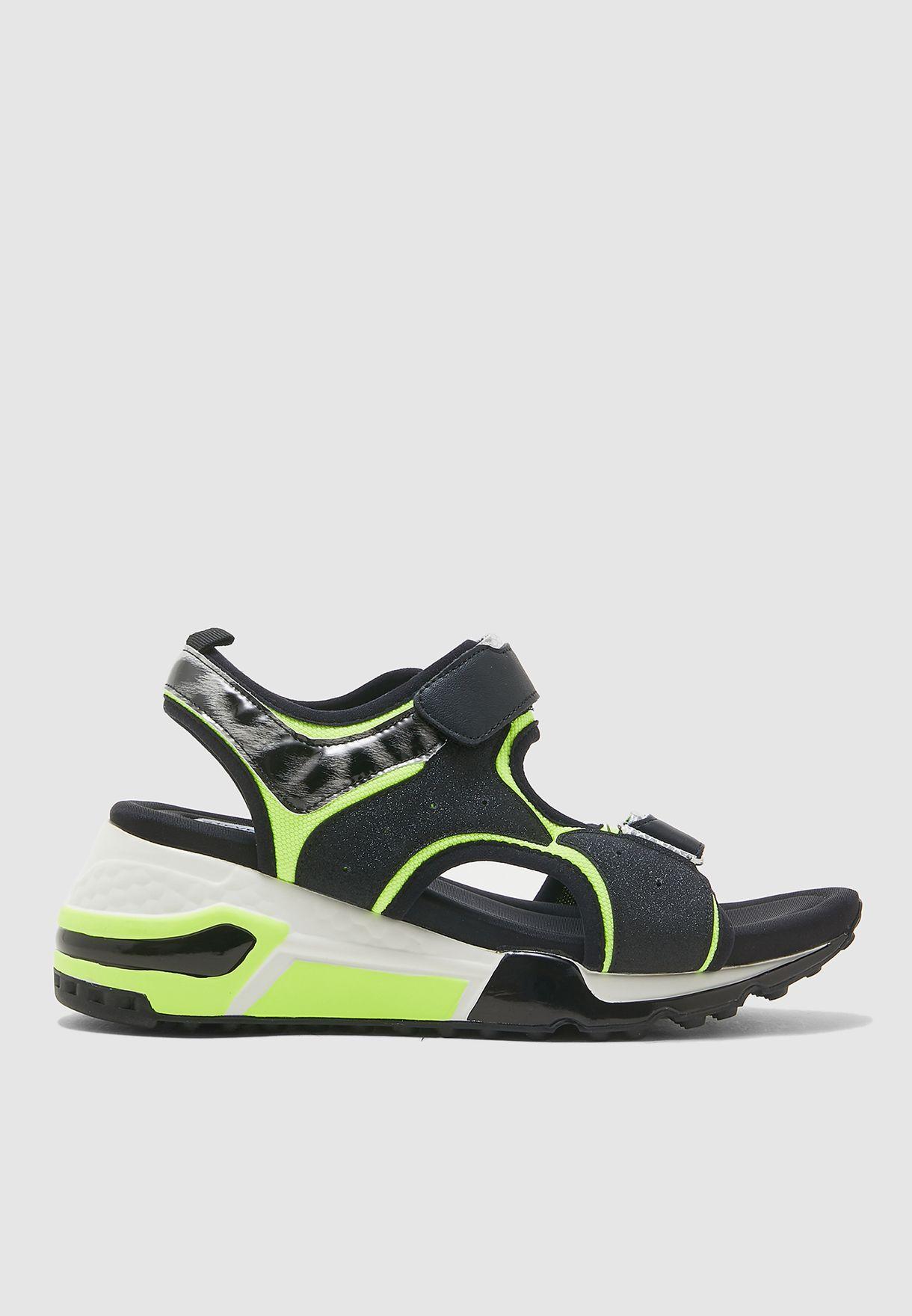 Chrissie Wedge Sandal - Yellow