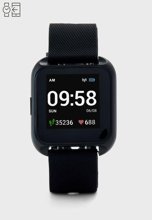 ساعة ذكية مع  استشعار معدل ضربات القلب