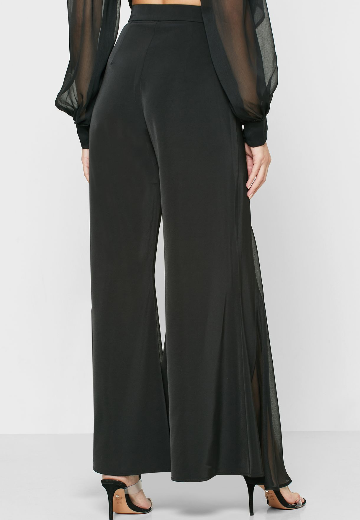 Cara Pleat Detail Wide Leg Pants