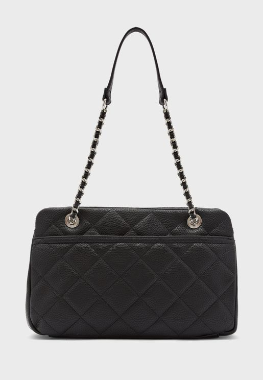 Quilted Eyelet Detail Satchel