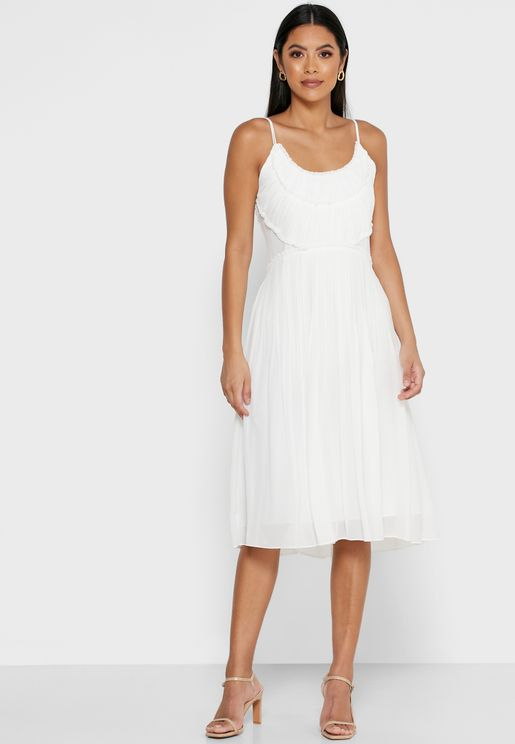Thora Pleated Front Cami Dress