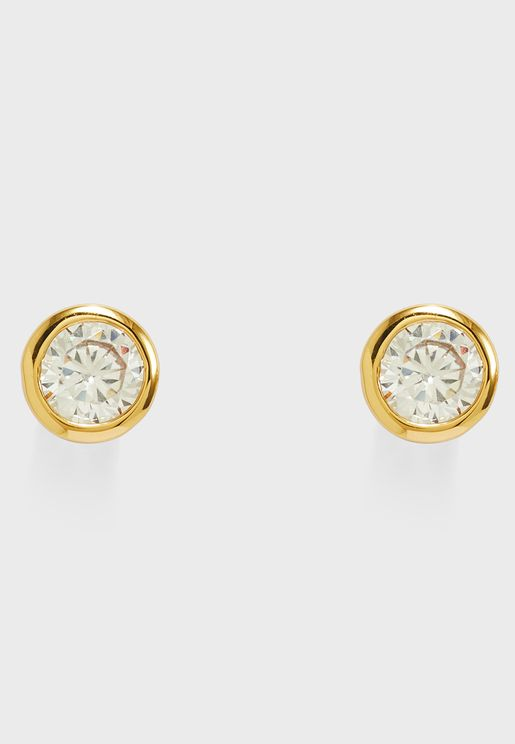 Central Princess Stud Earrings